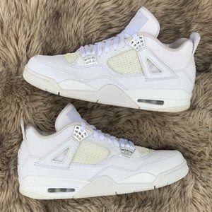 air Jordan 4 IV pure money white